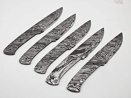 Lot of 5 Rare Custom Damascus Skinning knife Blank Blade