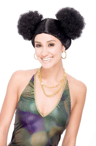 Sweetie Poof Black Adult Costume Wig One (Poof Wig)