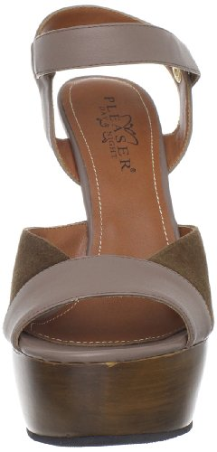 Pleaser Day & Night - Sandalias mujer marrón - Brown Kid Leather-Suede