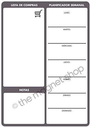 Fran/çais The Magnet Shop Repas Agenda par au Choix 6 Traduction A4 Tableau /à m/émos magn/étique A4