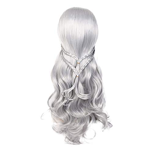 Shirazawa Curly Wig Ash Blonde Wig Spiral Curl Lace Front Wig Long Synthetic for Women Heat Resistant 30 inches Natural Looking Fashion Hairstyle Cosplay Drag Queen