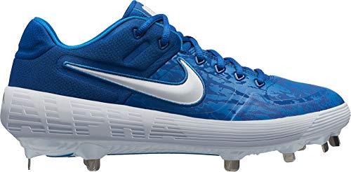 Nike Women's Alpha Huarache Elite 2 Fastpitch Softball Cleats (Blue/White, 10 B(M) - Zoom Nike Huarache Womens