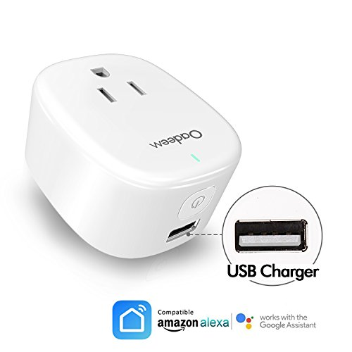Price comparison product image 2in1 Automation WiFi Smart Plug Works with Amazon Alexa Echo Google Home USB Charger Outlet Timer No Hub Required Smart Socket Switch On Off Homekit Switch Smart Home Automation White Oadeem