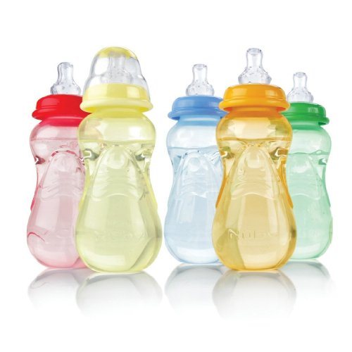 Nuby 3-Pack Non-Drip Standard Neck Bottles  - pink/purple, o