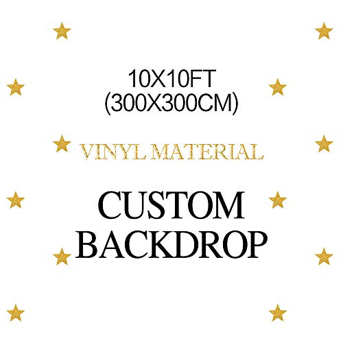 MEHOFOTO Birthday Party Customized Backdrop Vinyl Material 10x10ft(Please Provide Custom Information After Your Payment) ()