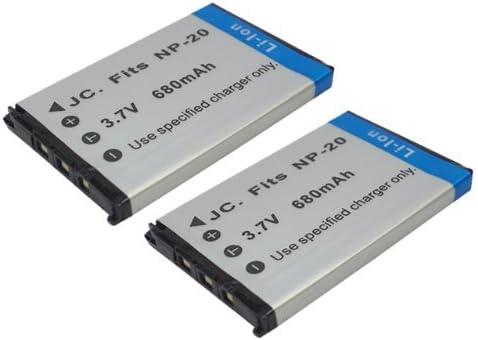 【掘出】 2個セット CASIO NP-20 互換バッテリー EXLIM EX-S880 対応