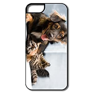 IPhone 5S Case, Dog Cat Friendship White/black Covers For IPhone 5S