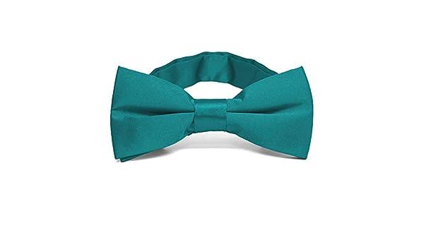 TieMart Boys Deep Aqua Solid Color Necktie