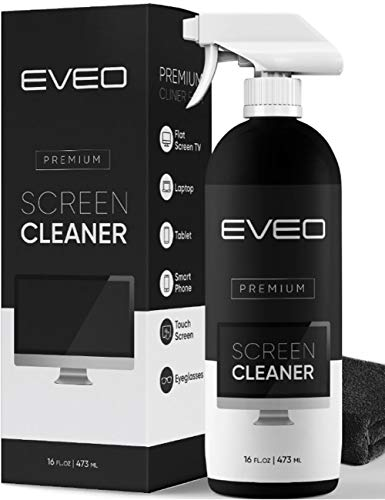 Screen Cleaner Spray - TV Screen Cleaner, Computer Screen Cleaner Laptop, Phone, Ipad - Computer Cleaning kit Electronic Cleaner - Microfiber Cloth Included, Large 16 Ounce Bottle