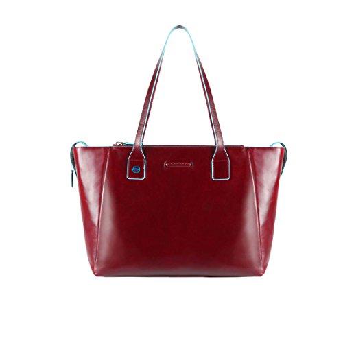 Piel Bolso Totes Shopper Cm Rojo 46 Square Blue Piquadro wXtqPxZPF