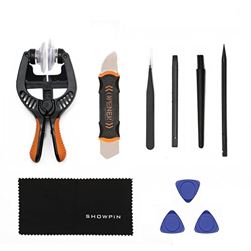 LCD Screen Opening Pliers with Strong Suction Cup, Showpin 10 in 1 Smart Phones Opening Repair Tool Kit with ESD Tweezers, Opening Pry Tools for Iphones,Smart Phones,Laptop,Tablet PC
