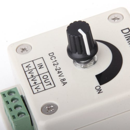 DC 12V-24V 8A Interruptor Regulador para Intensidad de Luz Bombilla LED