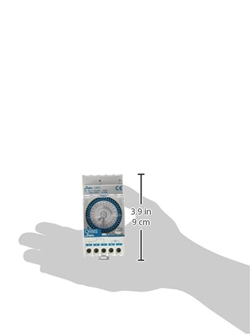 Orbis Supra QRD 230 V Interruptor horario analógico de distribución, OB290232N: Amazon.es: Bricolaje y herramientas