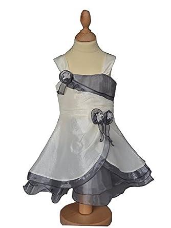 227eda102ec41 Robe de cérémonie bébé fille ivoire grise LUCE  Amazon.fr  Vêtements ...