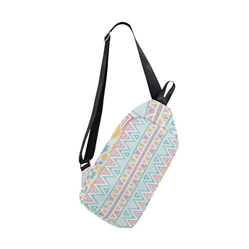 Sling Bag Vintage Lover Aztec Pattern Womens Chest Shoulder Backpacks Crossbody One Strap Bag Pack