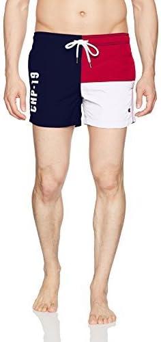 Champion LIFE Mens European Collection Drawstring Swim Short Limited Edition