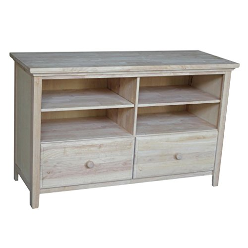 International Concepts Unfinished Entertainment/TV Stand with 2-Drawer,