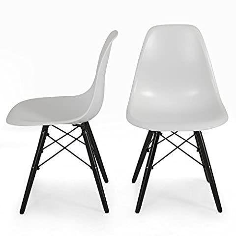 Mookshop Chair White Designed for Indoor and Outdoor Use furniture Protective Rubber Floor Glides Decorate the garden, decorate the plastic dining - Classic Spring Club Chair Frame