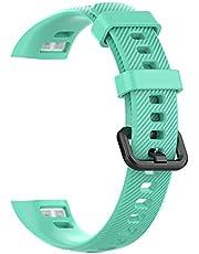 Jackallo Siliconen Horloge Bandjes voor Mannen en Vrouwen Zachte Siliconen Armband Vervanging Horlogeband Armband voor Huawei Band 3 Pro en Band 4 Pro