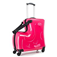 Portable boys and girls children ride on a Trojan suitcase and for parents to rest assured kids luggage sets