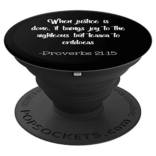 Scripture For Lawyers Phone Stand Blue On White PopSockets Grip and Stand for Phones and Tablets (Best Tablet For Lawyers)