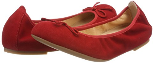 red Acor Femme Unisa ks 18 Rouge Ballerines vYdqnwxRqI