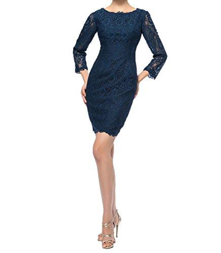 Damen Charmant Spitze Braun Mini Brautmutterkleider Etuikleider Navy Abendkleider Kurzes Blau Partykleider Abschlussballkleider d6n6rZqWx