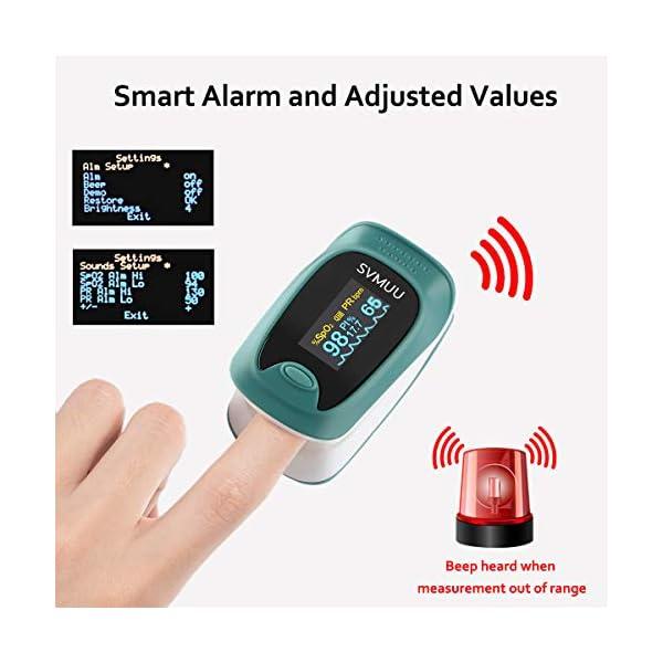 SVMUU Pulsossimetro, Ossimetri Professionale Portatile con Display LCD, Misura in 6 Secondi, per La Frequenza del Polso… 4 spesavip