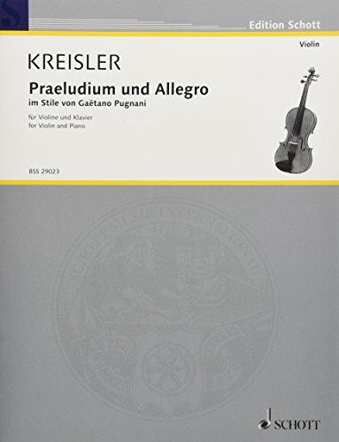 - Praeludium and Allegro: in Style of Gaetano Pugnani