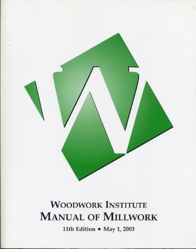 Manual of Millwork