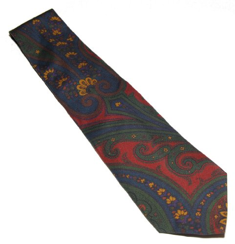 Polo Ralph Lauren Purple Label Mens Blue Green Red Paisley Silk Tie Italy