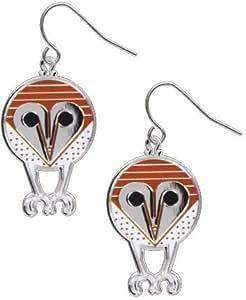 fun minimalist bird jewelry Charles//Charley Harper BARN OWL EARRINGS