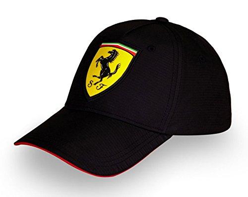 Ferrari Formula 1 Motorsports Black Scudetto Carbon Polyester Hat Cap Adjustable