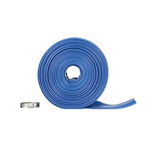 (Blue Devil 75-Foot Backwash Hose for Pool with Hose Clamp, 2