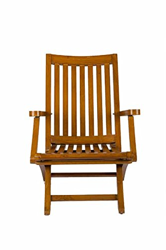 Surprise Interiors Teak Wood Outdoor Patio / Reading Foldable Arm Chair