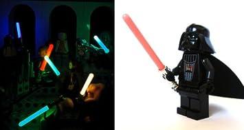 Lego Minifigure Lightsaber Chrome Silver Hilt /& Lightsaber Star Wars Darth Vader