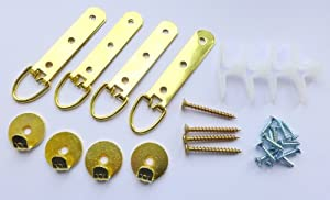 Heavy duty mirror picture hanging kit plasterboard walls for Mirror hanging kit