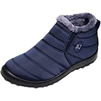 Londony ♥‿♥ Clearance 2018,Snow Boots for Mens Warm Fur Lined Sneaker Winter Anti-Slip Ankle Booties Slip On