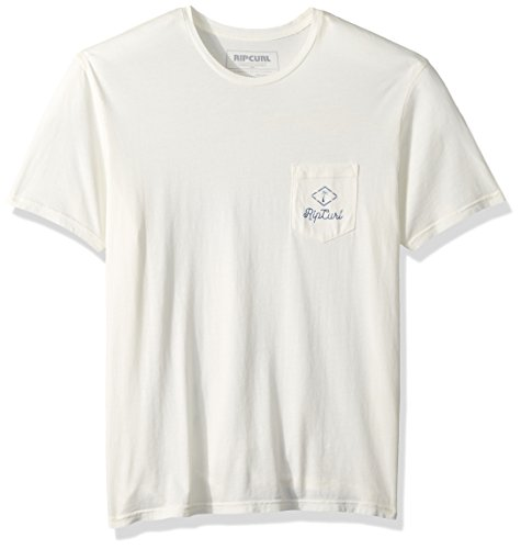 Rip Curl Men's Luau Heritage Pocket Tee, Off White/Off White, ()