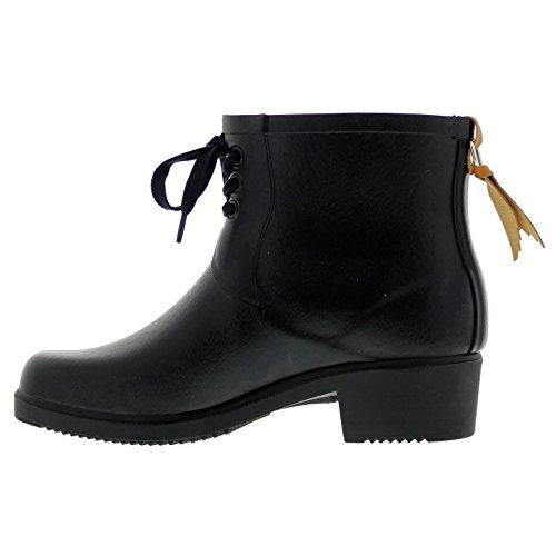 Miss Womens Boots Bottillon Nero Rubber Lacet Juliette Aigle 7q5adC7