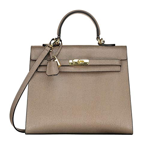 Dames cuir qualité Hobo Sac Sombre Sac fait bandoulière main main sac Sacs Femmes Tourterelle de Designer Sacs tout italien haute GRAZIA à à fourre main à en dYvq6nZ6F