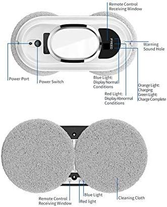 OOLIFENG Robots Laveurs de Vitre, Robot Nettoyant pour vitres, UPS Anti-Chute avec Corde de Sécurité, 3 systèmes de Sécurité - Home Robots