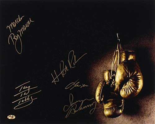 Boxing Legends Autographed 16x20 Photo - Tony Tubbs, Ray Mercer, Iran Barkley, Hasim Rahman, Oliver McCall!