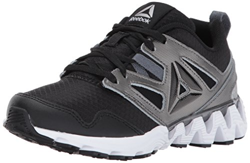 Reebok Unisex-Kids Zigkick 2K17 Sneaker, Black/Pewter/Alloy/White, 10.5 Little Kid