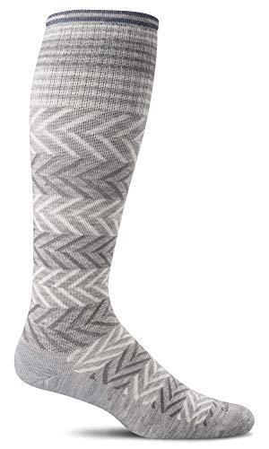 Sockwell Women's Chevron Graduated Compression Socks, Grey, Medium/Large