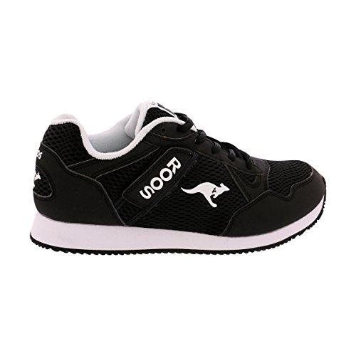 xter Sneaker - Black/White/Pewter (Kangaroos Leather Sneakers)