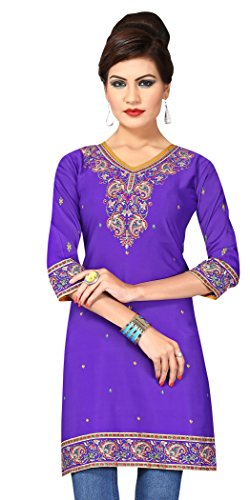 Indian Tunic Top Womens Kurti Printed Blouse India Clothing – Small, L 142