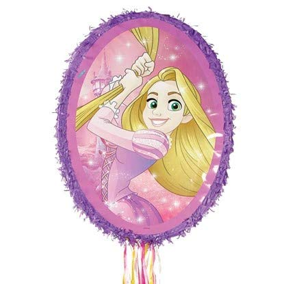 Rapunzel Pinata Oval Shaped Purple Mirror