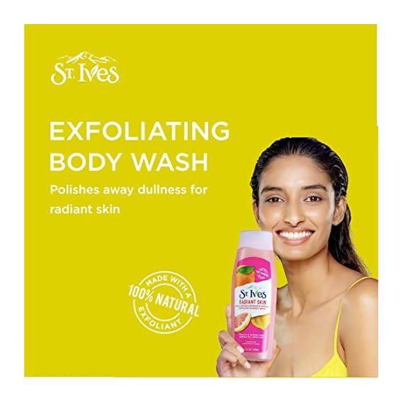 St.Ives Radiant Skin Pink Lemon & Mandarin Orange Exfoliating Body Wash 400ml
