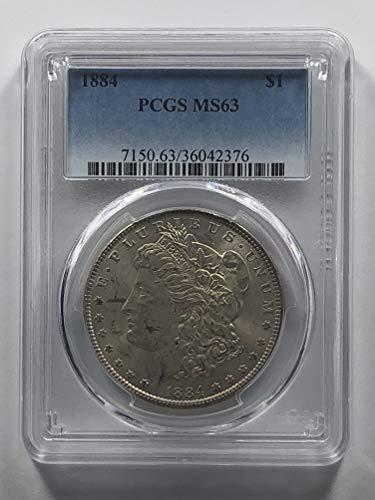 1884 Morgan Silver Dollar Nice Tone $1 MS-63 - Dollar Morgan Very Nice Coin